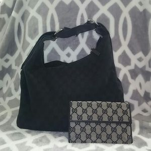 Authentic Gucci Hobo with Gucci wallet