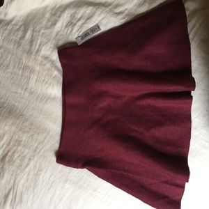 Wine colored Talula skirt from Aritzia