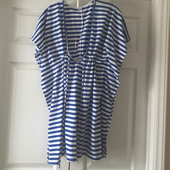 165e4a48bf4 Old Navy Blue White Striped Beach Cover Up. M 5680279787dea0af5c038b39