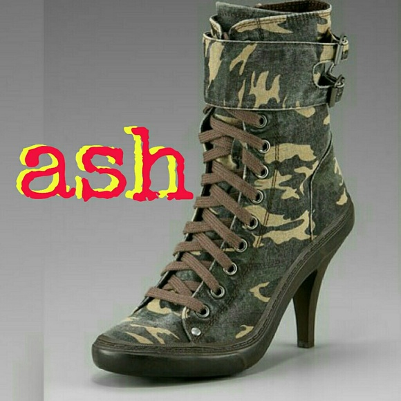 5e478cc0ad87 Ash Shoes - Ash Camouflage High Heeled Sneakers