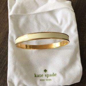 Kate Spade cream and Gold bracelet/bangle 