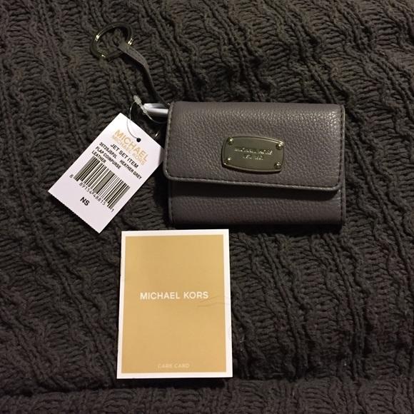 308e47f12219 NWT Michael kors jet set flap coin purse