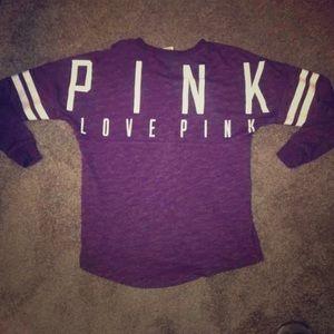 Vs PINK varsity crew neck