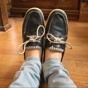 Sperry Top-Sider Shoes - Navy Blue and White Top-Sider Sperry