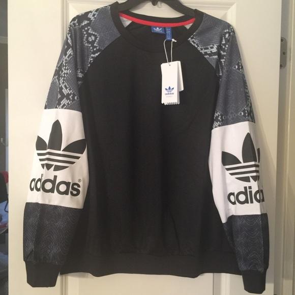 97c18b0e5bc Adidas Tops | Originals La Snakeskin Crew Neck Shirt L Og | Poshmark