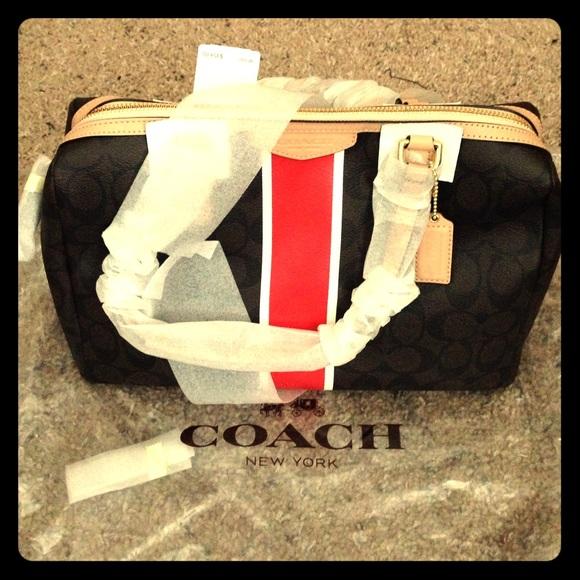 Coach Handbags - New Brown/Vermillion Coach Purse