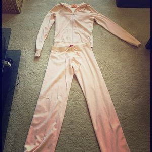 Gently loved velour track suit set hoody and pant