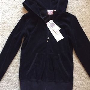 Brand new Juicy terry cotton zipped sweater hoodie