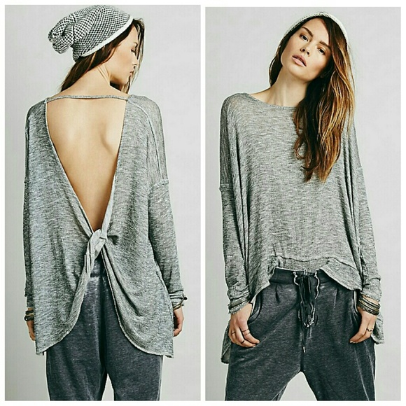 d6677f12d5cd5 Free People Sweaters - Free People Open Back Sweater
