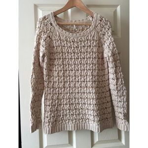 Willow & Clay oatmeal metallic sweater