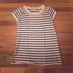 Michael Michael Kors navy striped sweater - M