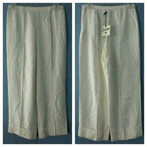 Jean Paul Gaultier Pants - Jean Paul Gaultier Jacquard Cuffed Crop Dress Pant