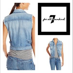 7 For All Mankind Denim Vest🆕