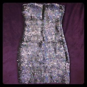 Dresses & Skirts - Slate Grey Sequin Tube Dress - Small