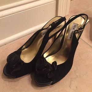 Black Suede Steve Madden Platform Heels