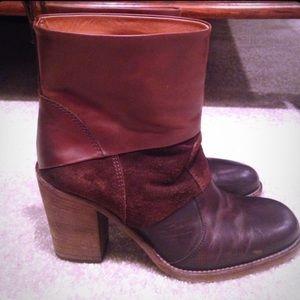 Maison Martin Margiela Shoes - MAISON MARTIN MARGIELA brown mixed leather boots