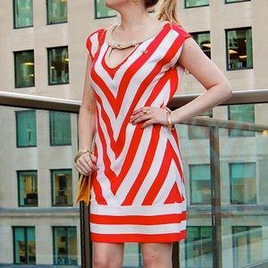 Diane von Furstenberg Dresses & Skirts - DVF striped silk shift dress with rope detail