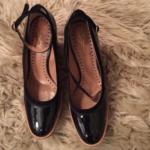 Yves Saint Laurent Shoes - YSL patent leather black wedges