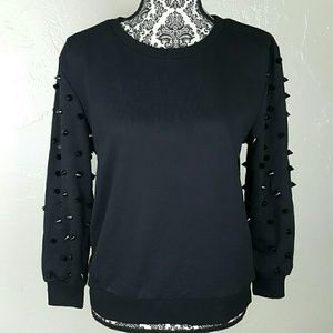 🌟LAST ONE Black Spikey Sweater by Moon Collection