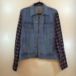 Brandy Melville Flannel Jean Jacket