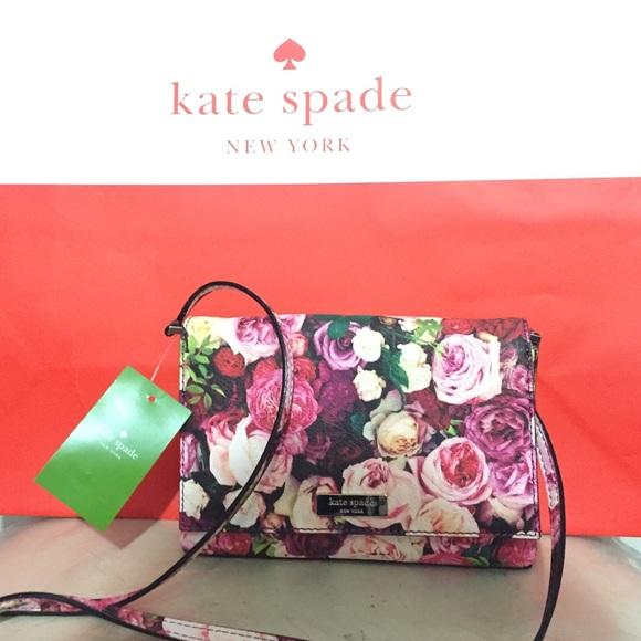 f332bf629f783 NWT Kate Spade Sally Grant Street Floral Crossbody
