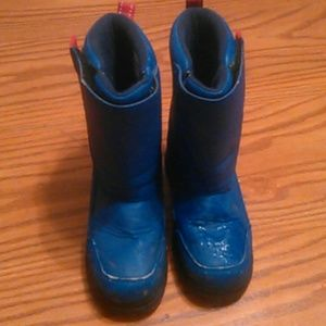KID'S SZ 2 BLUE & RED LL BEAN BOOTS