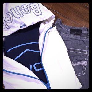 Buckle Bench zip up Hoodie, BKE jeans bundle!!!