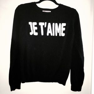 Je t'aime (French) Sweater