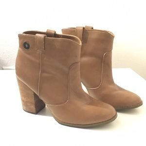 Calvin Klein Shoes - Tan Leather Booties