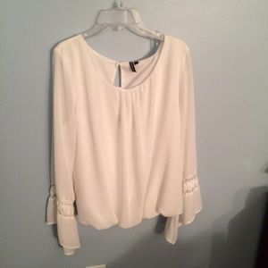 White blouse with bell sleeves!