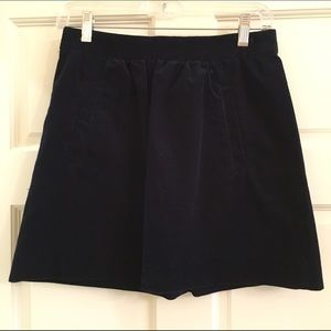 Navy Corduroy J Crew Skirt