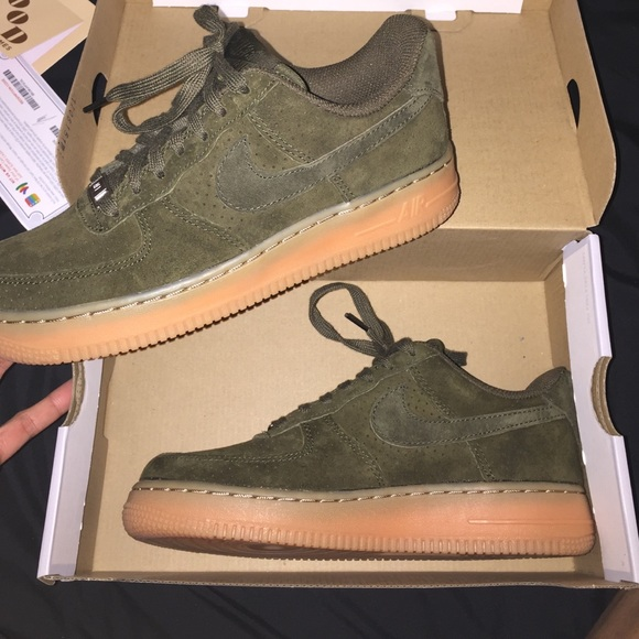 nike air force brown suede