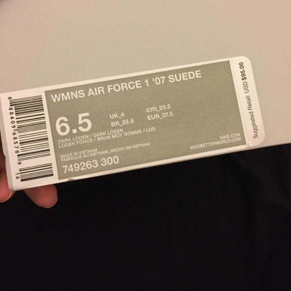 Nike Air Force 1 '07 Mocassini Da Donna In Pelle Scamosciata 1PKMop