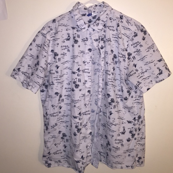 a3275f1a H&M Tops | Hm Shortsleeved Aloha Shirt | Poshmark