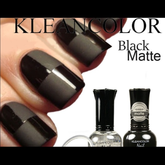 Other | Set Of 2 Madly Black Matte Clear Nail Polish | Poshmark