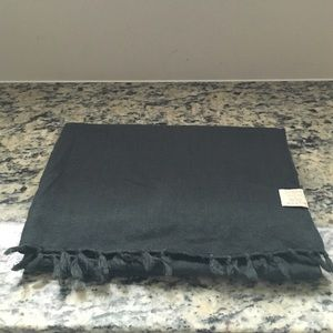 J.Crew charcoal gray scarf