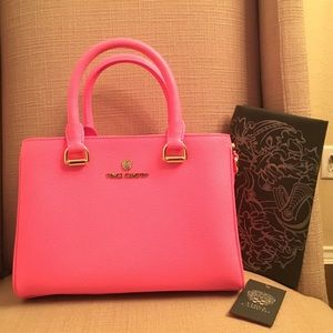 Vince Camuto Handbags - Vince Camuto Thea small satchel, bright pink
