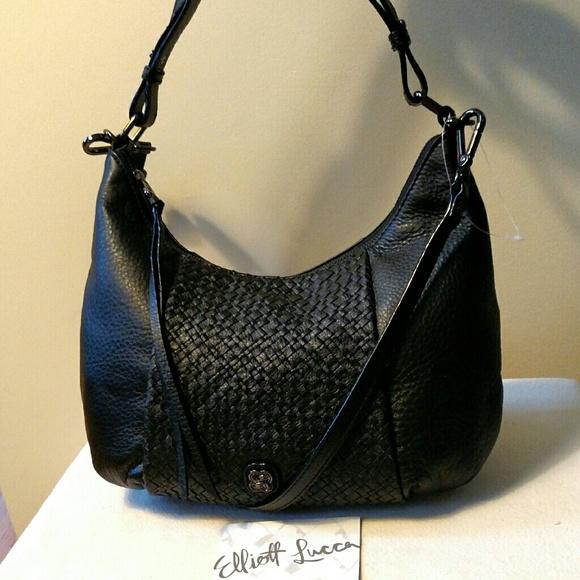 Elliott Lucca Leather Intreccio Demi-Hobo Bag a89920f3791a0