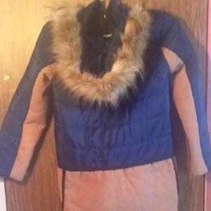 Jackets & Blazers - Navy Blue && Beige Coat