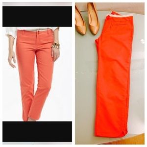 Anthropologie Cartonnier Coral Crop Pants