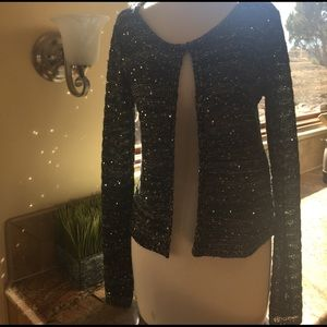 Sweaters - Sequined Cardigan