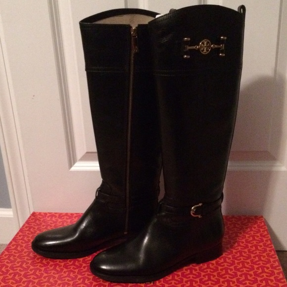 06194b5c2cc6 NIB Tory Burch black leather riding boots