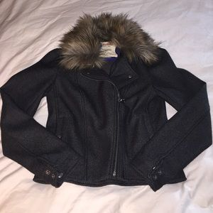 Anthropologie jacket with fur