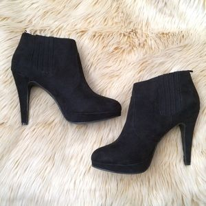 NWOT Black Suede Booties