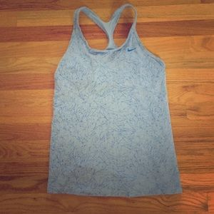 Blue Dri-Fit Tank - Shelf Bra - XL