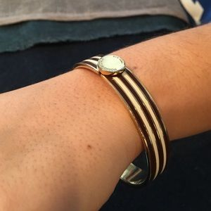 henri bendel Jewelry - Henri Bendel Brown Candy Striped Bangle.