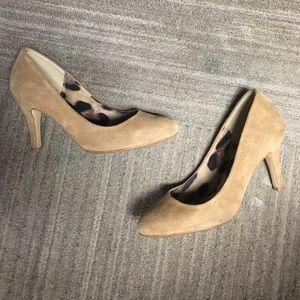 Marco Santi Shoes - Marco Santi Tan Nude Suede Pumps heels size 5.5