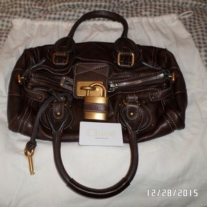 Authentic Chloe Paddington Satchel Brown