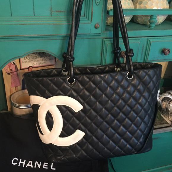 1838940cbf77b CHANEL Handbags - Chanel cambon tote bag black pink lining euc