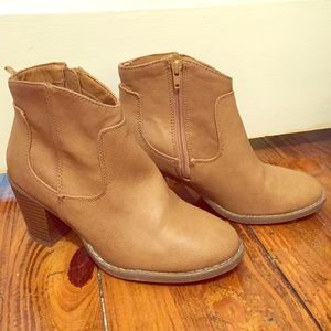 LIKE NEW Tan Booties! Only worn 3x